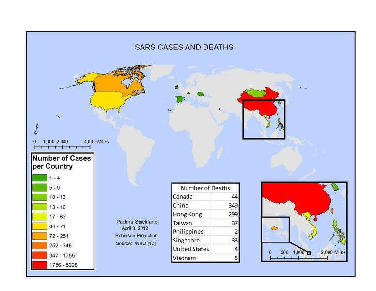 Sars Cases and Deaths
