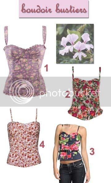 floral bustier corset tops