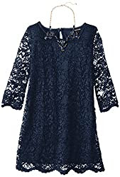 My Michelle Big Girls' Allover Lace Dress - Navy Special Occasion Dress