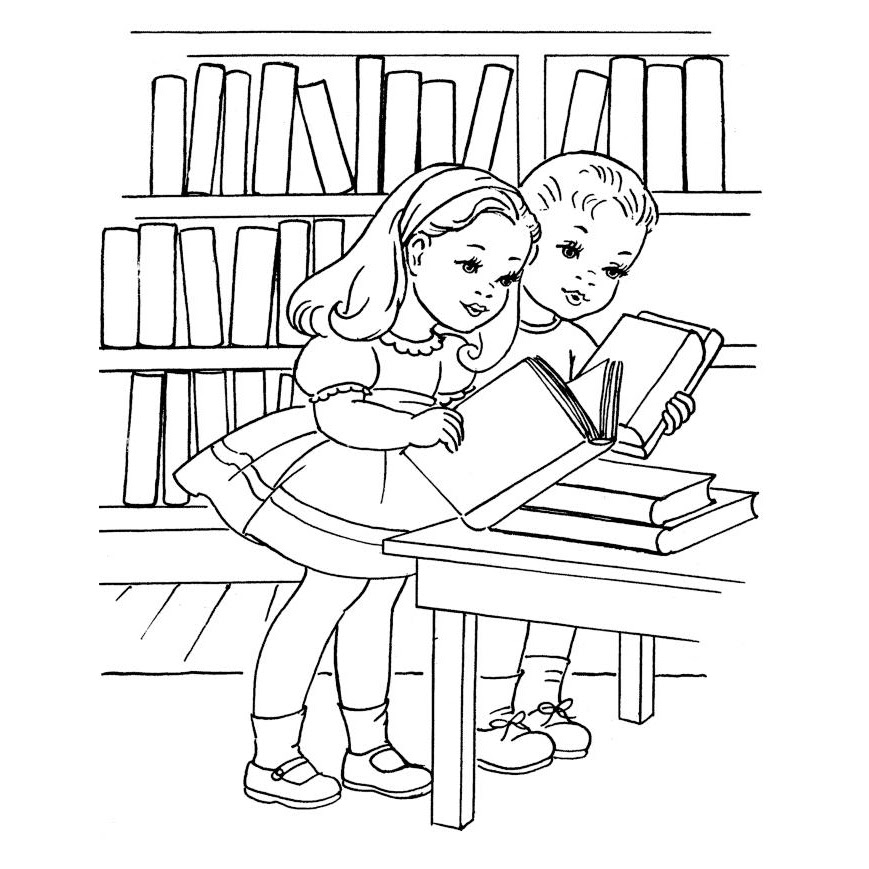 Dibujos De Biblioteca Para Colorear