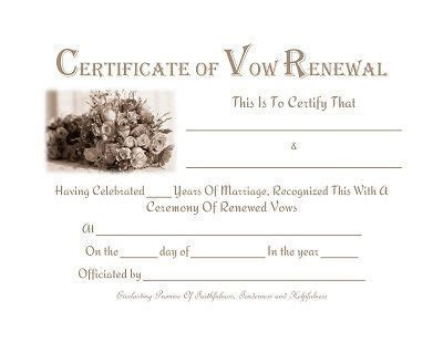 Free printable   Vow Renewal Certificate   Prayers, Quotes