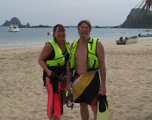 Eric and Tina in snorkel gear