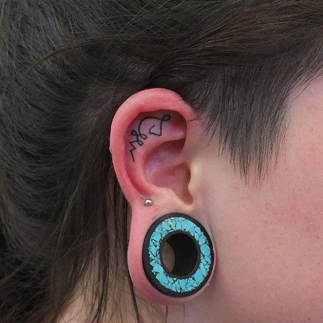 55+ Excellent Mini Ear Tattoo Designs & Meanings- Powerful ...