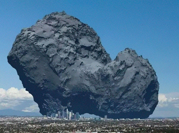14 - A Comet Compared To The City Of Los Angeles