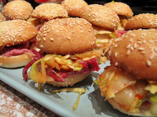 Corned Beef and Cabbage Sliders
