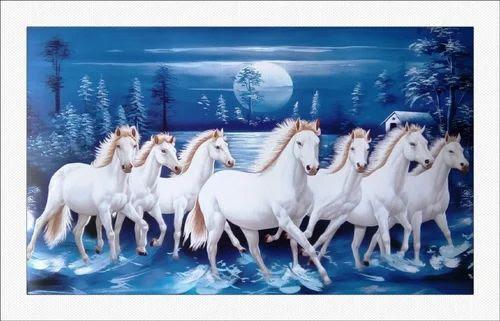 Seven Horses Paintings Vastu Horses Painting As Per Vastu