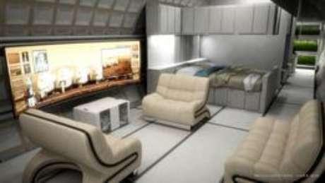 Caso a missão se concretize, colonos viverão em pares, em módulos de 50 m² e interligados entre si Foto: Bryan Versteeg / Mars One