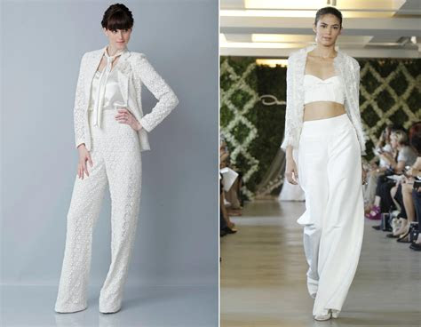 wedding dress trends bridal pants suitoriginal