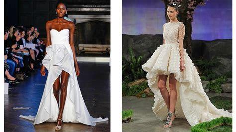 Short Front Long Back Wedding dress 2016   YouTube