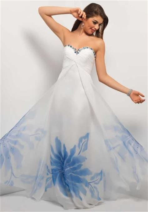 Hawaiian Wedding Dress   Blue & White   Non Traditional