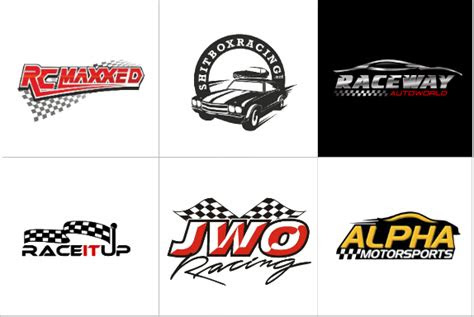 racing logo designs  designvamp