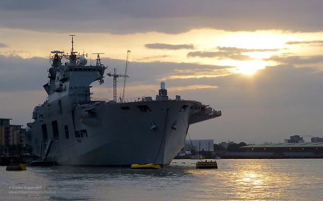 HMS Ocean Moored in London for Olympic Games
