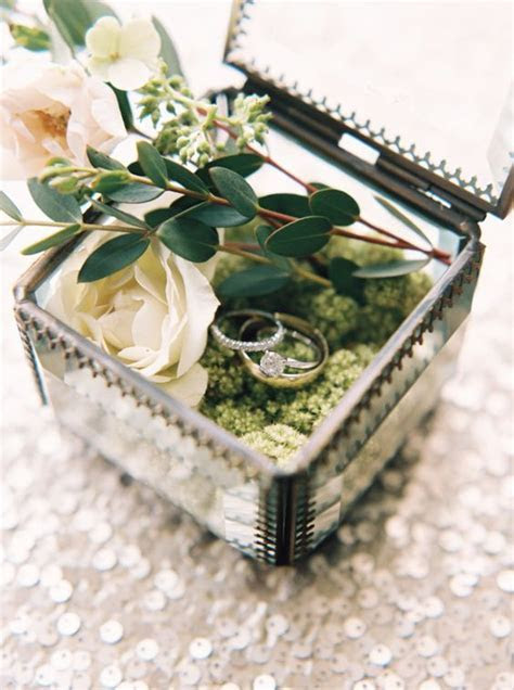 Vintage glass ring box via When He Found Her   Vintage