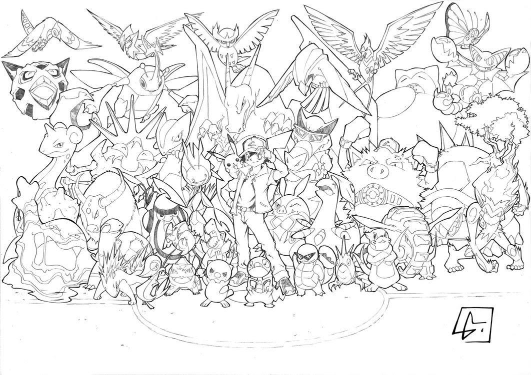 Coloriage  imprimer Personnages cél¨bres Nintendo Pokemon numéro