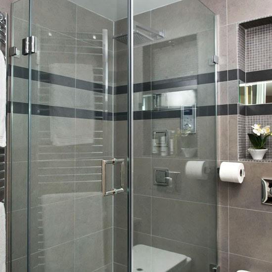 Shower enclosure | See this sleek grey bathroom makeover ...