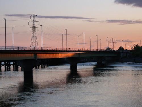 12443 - Sunset at Loughor bridge