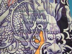 Dragon quilt label
