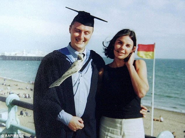Horror: Recalling the night Mr Falconio (left) was killed, Ms Lees told the court they had been followed by a four-wheel drive vehicle when the driver signalled them to stop due to an apparent problem with the exhaust