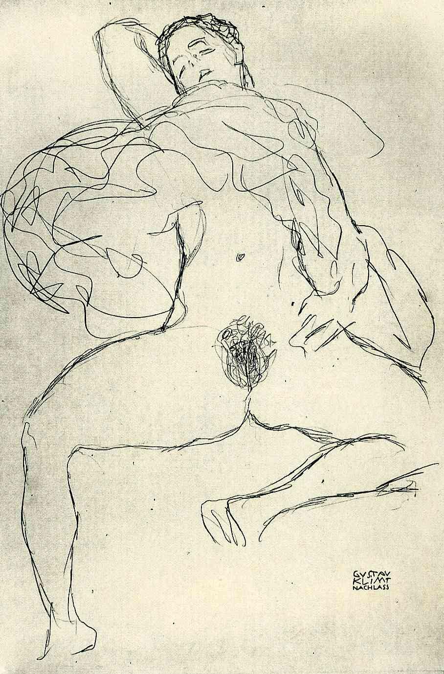 Gustav Klimt erotica sensual23