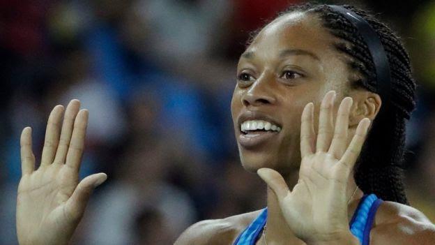 Allyson Felix impuso un récord olímpico difícil de igualar.