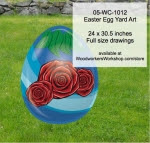 Easter Egg Yard Art Woodworking Pattern - fee plans from WoodworkersWorkshop® Online Store - roses,flowers,easter eggs,yard art,painting wood crafts,scrollsawing patterns,drawings,plywood,plywoodworking plans,woodworkers projects,workshop blueprints