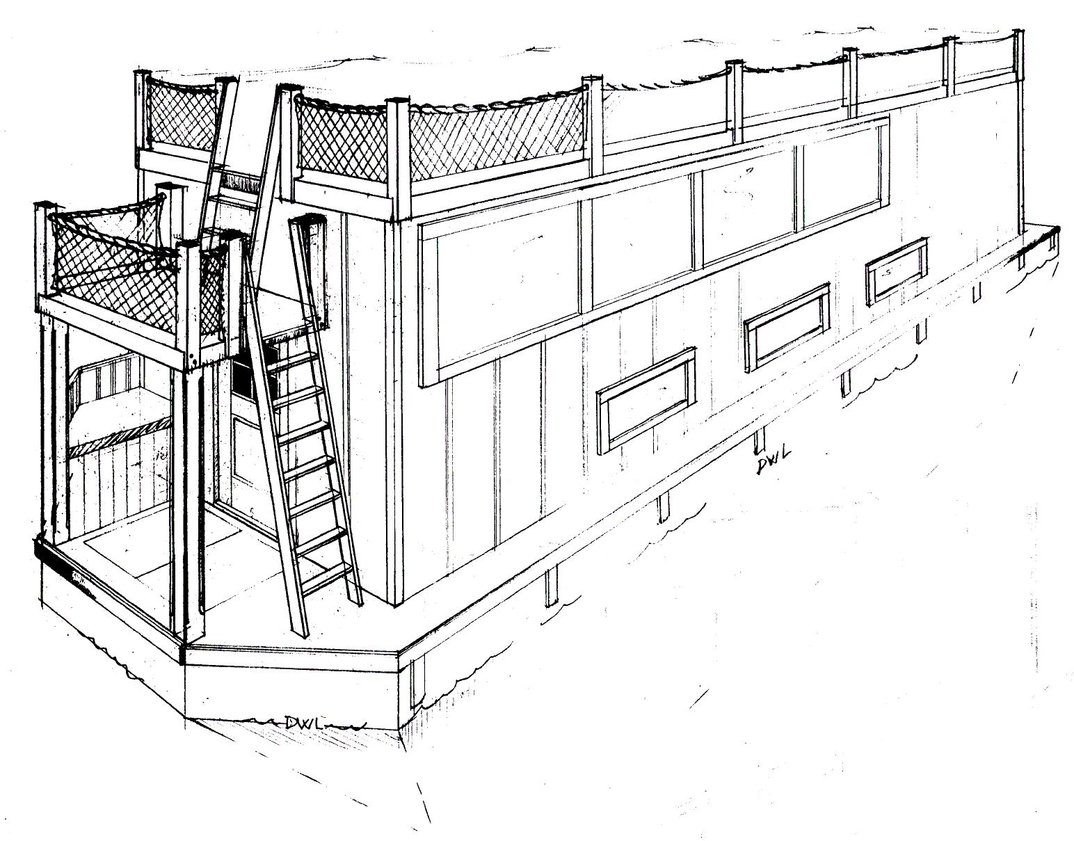 36' Houseboat - DRIFTER - Kasten Marine Design, Inc.