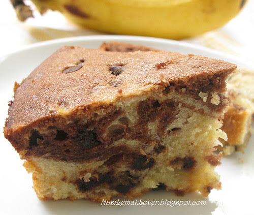 Marble Chocolate Banana Cake