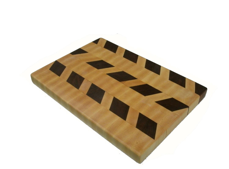 "Cutting Board Wood - End Grain Maple and Black Walnut  - 14"" x 10"" x 1"" - BillsWoodenPleasures"