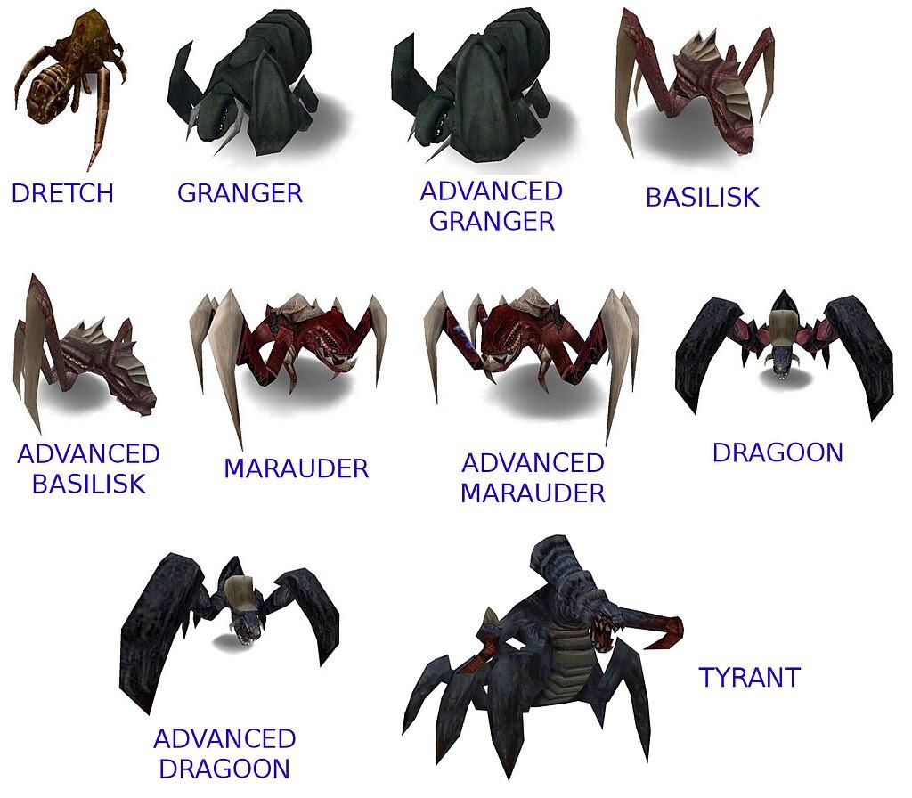 Alienígenas del videojuego Tremolous