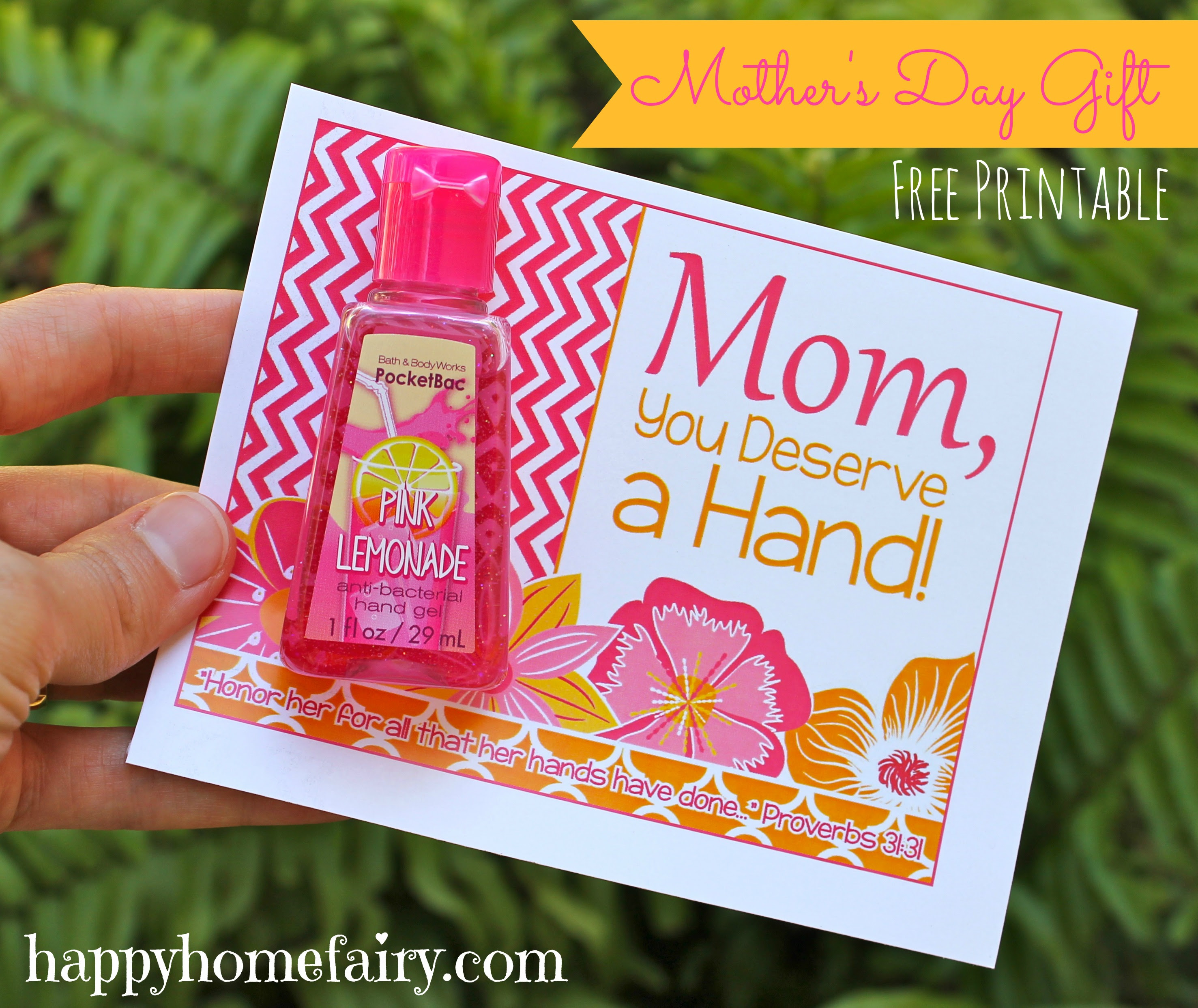 Easy Mother\u002639;s Day Gift Idea  FREE Printable!  Happy Home Fairy