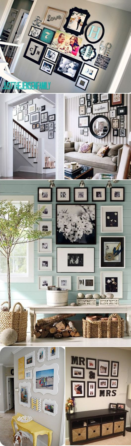gallery walls, great layouts