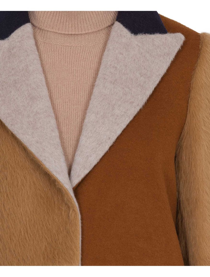 Colour-block overcoat