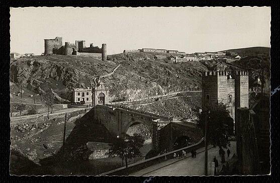 Castillo de San Servando hacia 1940. Foto Arribas