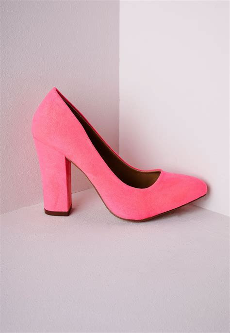 Pink Block Heel Shoes   Is Heel