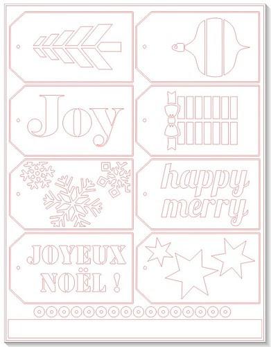 Christmas Tags - free Silhouette cut file