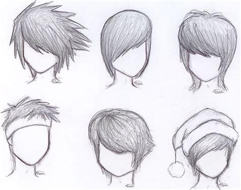 draw anime boy hair step  step  beginners