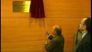 Jordi Pujol destapa una placa a Mataró el 12 de desembre de l'any 1998