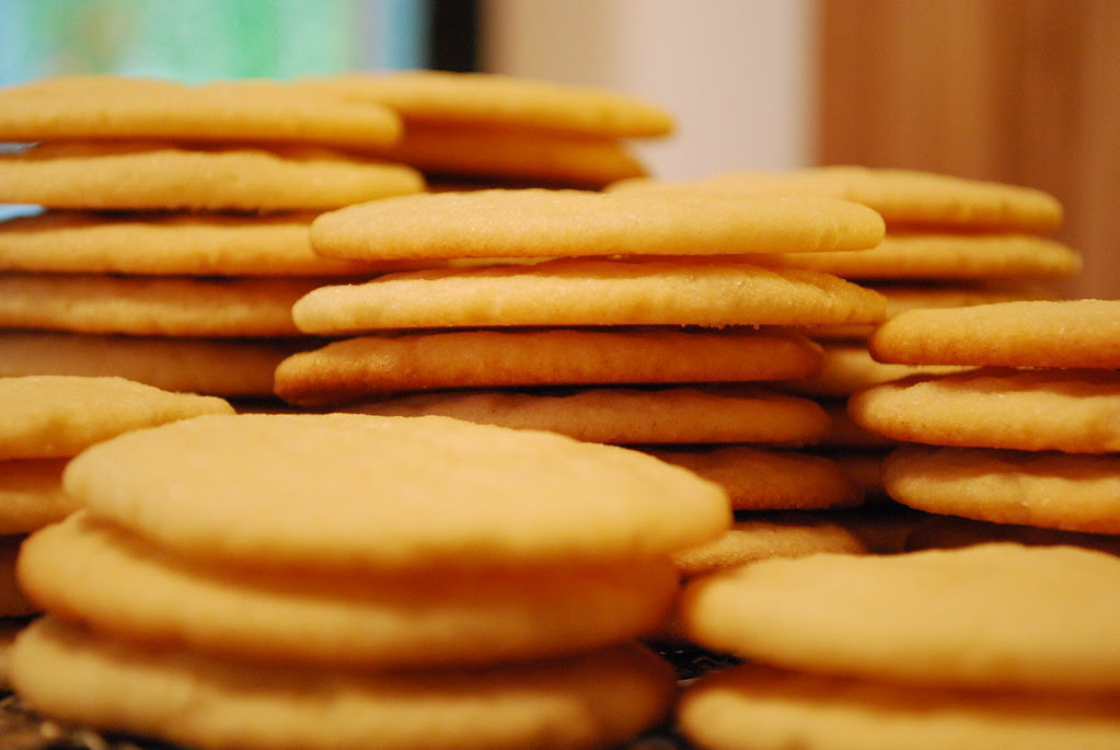 Stacks of sugar cookies