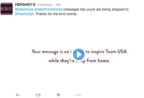 hersheys twitter conversational ad
