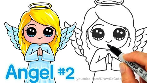 draw  angel step  step cute  easy youtube