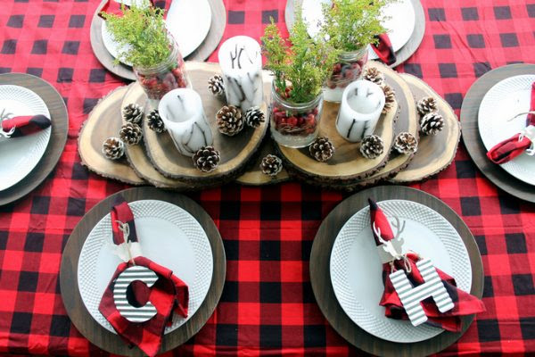plaid-christmas-table-ideas