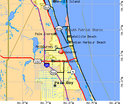 Best Places to Live in Melbourne (zip 32904), Florida  |Brevard County Area Map