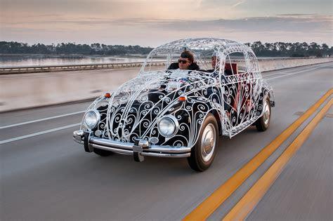 maximum airflow driving  wrought iron vw wedding beetle