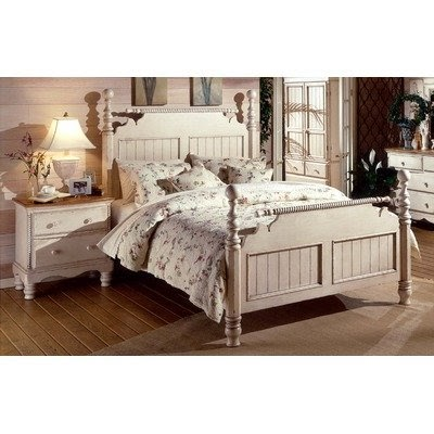 hot deals wilshire antique white bedroom set size king best price now