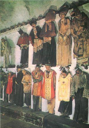 Priests' corridor in Capuchins' Catacombs