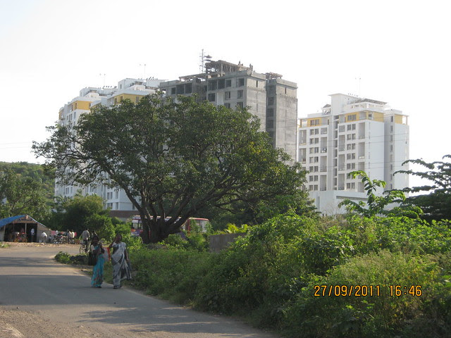 SRK Oval Nest - view from Pinnac West-End Residency, 2 BHK Flats, near Aditya Garden City, Warje, Pune