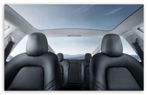 Tesla Model 3 Electric Car Interior Glass Roof Ultra Hd Desktop Background Wallpaper For 4k Uhd Tv Widescreen Ultrawide Desktop Laptop