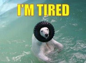 写真:疲労