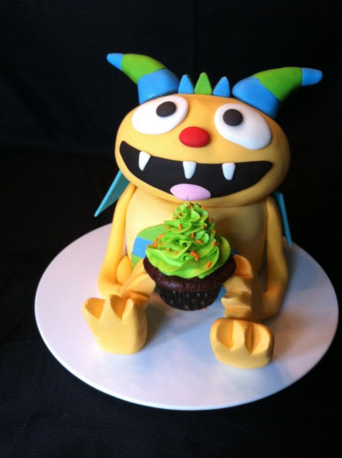 *  My son's new favorite show is Henry Hugglemonster on Disney Jr. So we made this cake for him today for his 3rd birthday! A few problems but otherwise turned out great and was easy to do!