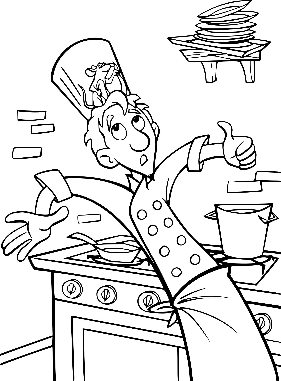Coloriage Ratatouille Alfredo à Imprimer